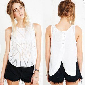 Free People Tops - FREE PEOPLE Ethereal Daze Ginger Cut Out Mesh Top